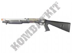Firepower Multi Shot Pump Action BB Shotgun Black and Clear